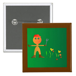 Gardening for Kids>Cute Childrens Button