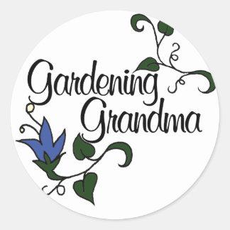 Gardening Grandma Classic Round Sticker