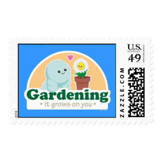 Gardening Grows on You Postage Stamps