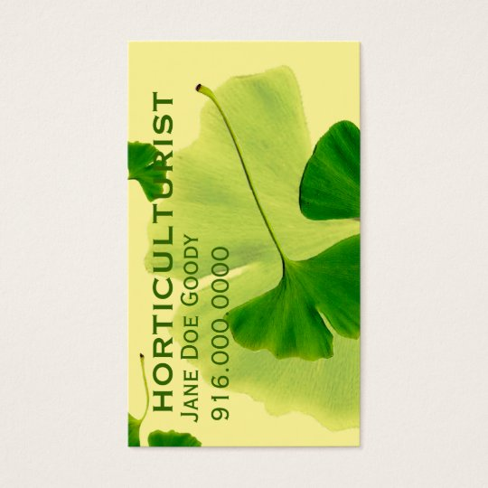 Gardening Herbalist Business Card