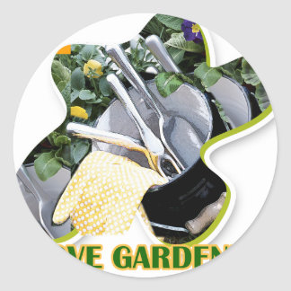 Gardening iGuide Flowers and Shrubs Classic Round Sticker
