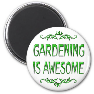 Gardening is Awesome Fridge Magnets