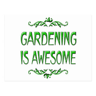 Gardening is Awesome Post Cards