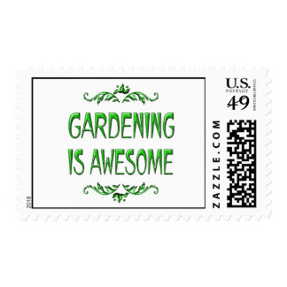 Gardening is Awesome Postage Stamp
