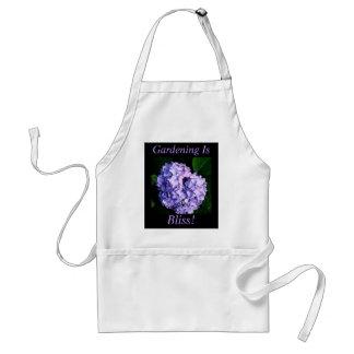 """Gardening Is Bliss!"" - Lavender Hydrangea Adult Apron"