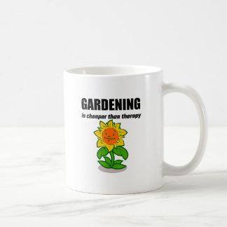 Gardening Is Cheaper Than Therapy Coffee Mug