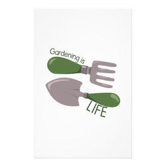 Gardening Is Life Stationery