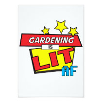 Gardening is LIT AF Pop Art comic book style Card