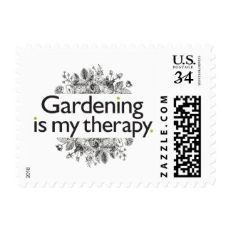 Gardening is my therapy postage