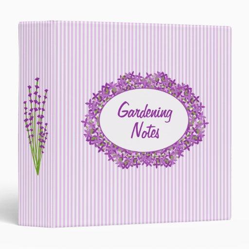 Gardening Journal Elegant Lilac Lavender Floral Binder