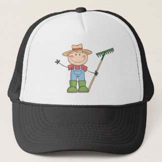 Gardening Kid Waving A Greeting Trucker Hat