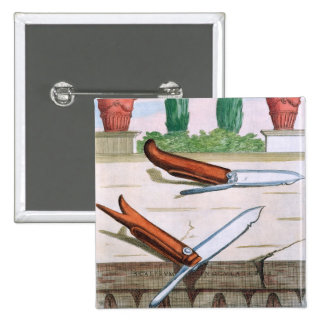 Gardening Knife, from 'Hesperides' by Giovanni Bat Pinback Button