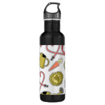 Gardening Love Pattern Stainless Steel Water Bottle