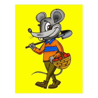 Gardening Mouse Postcard