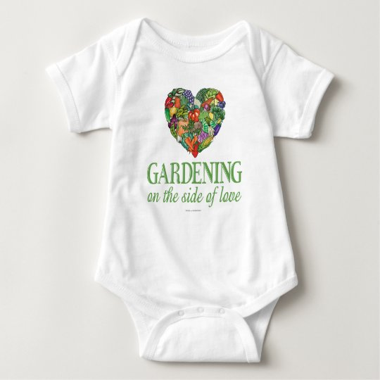 Gardening on the Side of Love Baby Bodysuit