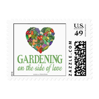 Gardening on the Side of Love Postage Stamp