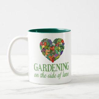 Gardening on the Side of Love Two-Tone Coffee Mug