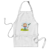 Gardening or Farming Girl Adult Apron