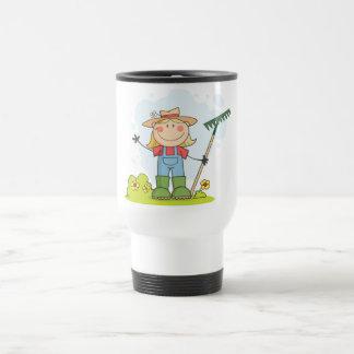 Gardening or Farming Girl Mugs