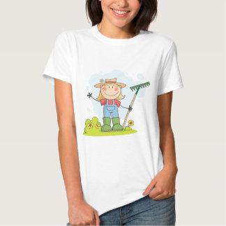 Gardening or Farming Girl Tees