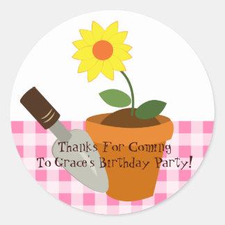 Gardening Party Favor Classic Round Sticker