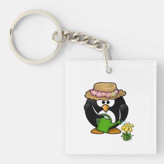 Gardening Penguin Keychain