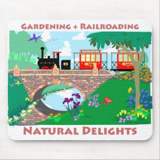 Gardening + Railroading Mouse Pad