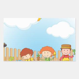 Gardening Rectangular Sticker
