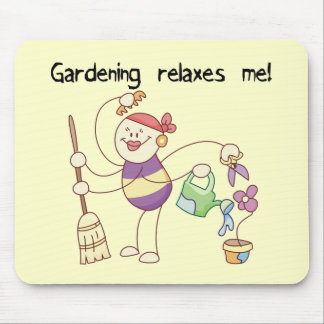 Gardening Relaxes Me Tshirts and Gifts Mouse Pad