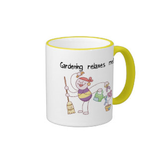 Gardening Relaxes Me Tshirts and Gifts Ringer Coffee Mug