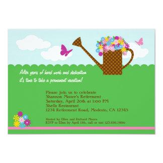 "Gardening Retirement Party Invitation 5"" X 7"" Invitation Card"