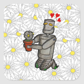 Gardening Robot Square Sticker