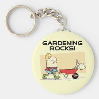 Gardening Rocks T-shirts and Gifts Basic Round Button Keychain