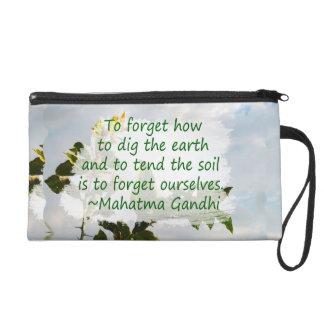 gardening saying gandhi with lemon wristlet