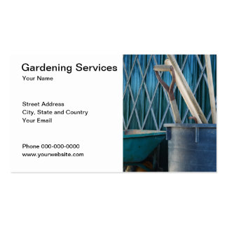 Gardening Services Business Card