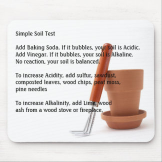 Gardening Simple Soil Test Mouse Pad
