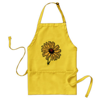 Gardening smock Dusty Pink Daisy Vintage flower Adult Apron