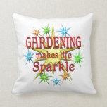 Gardening Sparkles Pillow