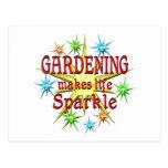 Gardening Sparkles Postcard
