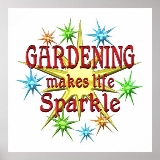Gardening Sparkles Poster