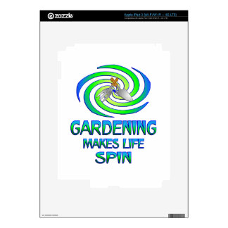 Gardening Spins Decal For iPad 3