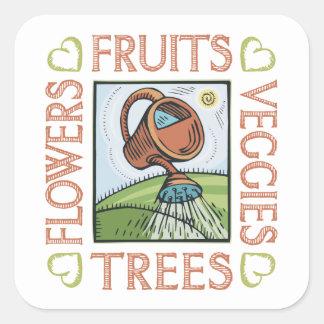 Gardening Square Sticker
