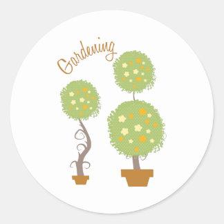 Gardening Classic Round Sticker