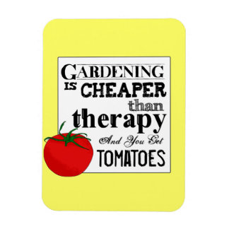 Gardening = Therapy + Tomatoes Magnet