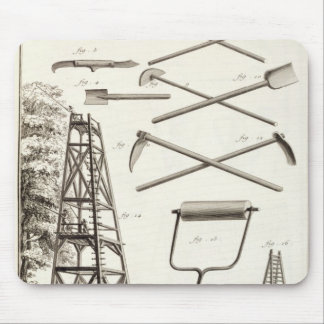 Gardening tools and a mobile pruning platform, fro mouse pad
