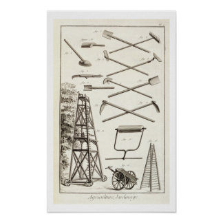 Gardening tools and a mobile pruning platform, fro poster
