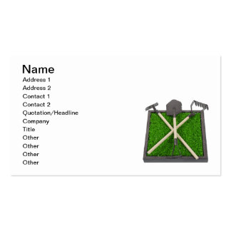 Gardening Tools on Raised Grass Bed Business Card