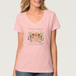 gardening w/my golden-more breeds T-Shirt