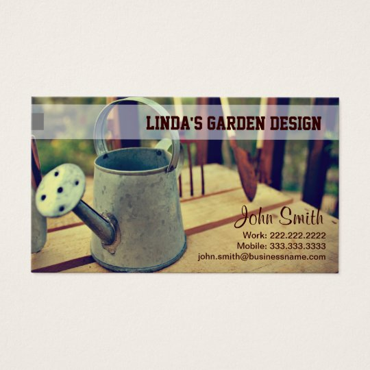 Gardening Watering Can Business Card