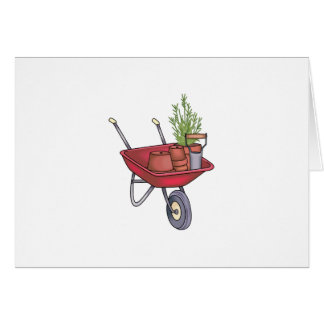 GARDENING WHEELBARROW CARD